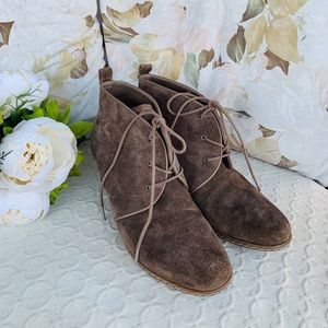 Franco Sarto Annabelle Lace Up Wedge Ankle Boot